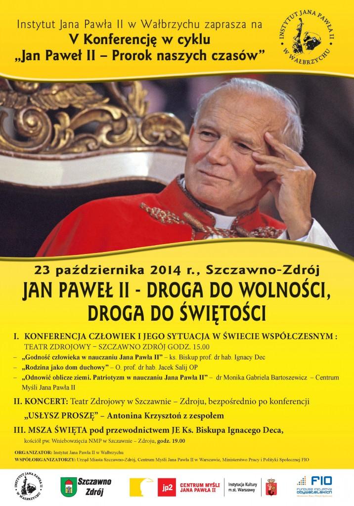 Plakat Jan Pawel II - prorok naszych czasów_2014